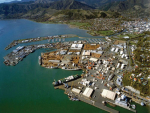 A birds eye view of the Port of Nelson.