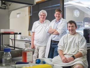 Disease Research Ltd staff from left, Professor Frank Griffin, Dr Rory O'Brien and Simon Liggett.