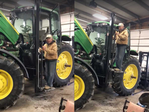 Homemade tractor lift goes viral