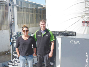 Southland dairy farmers Ferdinand Vries and Stacey Young say when it came to upgrading their milk cooling system, they wanted a unit that was not only reliable and cost-effective but also energy efficient.