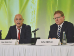Fonterra chief executive Theo Spierings and chair John Wilson front the co-op's annual result last week.