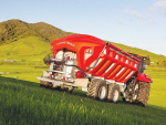 Fert spreader controls easy, at your fingertips