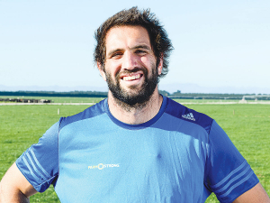 Sam Whitelock will be at the Fieldays.