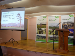 Michael Spaans told the DairyNZ Farmers Forum in Taranaki today that things are looking better.