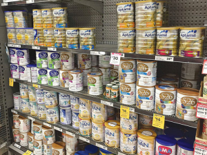 New Zealand infant formula is being exported out of Australia through unofficial Chinese trade channels, contributing to a shortage in Australia supermarkets.