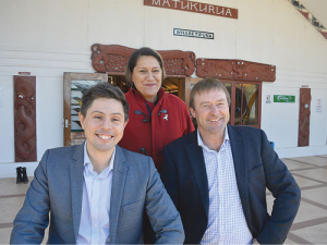 Government MPs Meka Whaitiri, Gareth Hughes and Mark Patterson at the recent Animal Welfare Advocate Hui held in South Auckland.