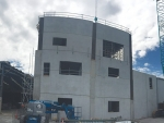 Danone's $25 million blending and packaging plant under construction.