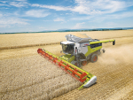 The Claas Lexion 8900 in action.