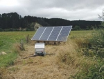 Outer paddocks not connected to the national grid can be supplied water with the help of solar power.