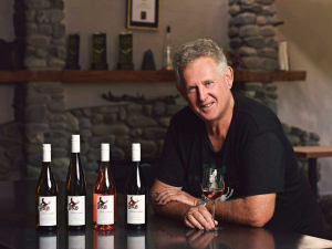John Forrest with his range of lighter alcohol wines.