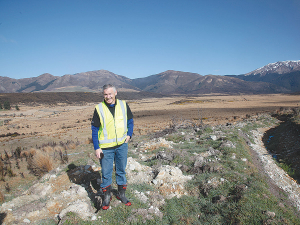Phil McKenzie pictured in a large QEII National Trust open space wetland covenants, near Mossburn in Southland.