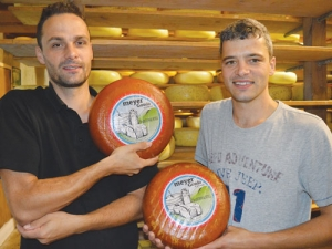 Geert Meyer (left) and Miel Meyer with their award-winning cheese.