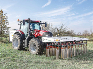 The tractor-based system allows for the effective control of unwanted vegetation.