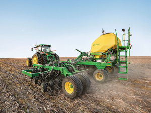 John Deere's redesigned version of the N500C series air drill.