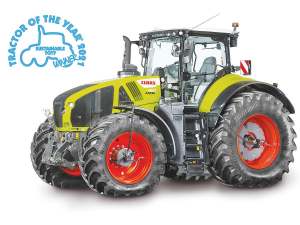 CLAAS's Axion 960 Cemos was recognised as the most sustainable tractor in the Tractor of the Year awards.