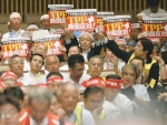 Japanese farmers took to streets of Tokyo last month denouncing TPP.