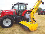 Hamilton-based Ag and Civil Machinery Direct's product manager David Williams with the Shelbourne HD 876 VFRT hedge cutter.