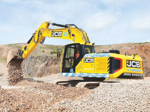 JCB's hydrogen-powered excavator.