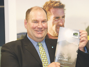 Federated Farmers president Andrew Hoggard with the farmer lobby's General Election Platform 2020.