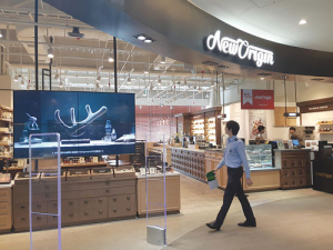 A New Origin café in Seoul, South Korea : Branded health foods based on NZ velvet have transformed the Korean market. Creating a similar product category in China is a priority for the NZ deer industry.