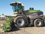 Krone's Big-X 1180 forage harvester in action.