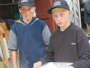Attendees at the field day were served up fresh steak by the next generation of Johnstone farmers.