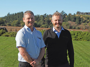 Fruition Horticulture's Greg Dryden and Jim Mercer, who run the programme under contract to MPI and NZW.