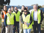 Agriculture Minister Damien O'Connor is pictured with the participants at the first course to held at Taratahi Agriculture Centre, in the Wairarapa, following its reopening earlier this month.