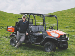 Kevin Barrett is happy how his Kubota RTV-X1140 handles the steep country on his farm.
