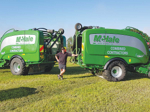 Te Aroha contractor Jono Tesselaar is a confirmed McHale baler man.