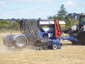 Ashburton-based seed drill manufacturer Allen Custom Drills are earning a big reputation in NZ and further afield.