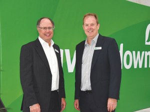 Ravensdown chair John Henderson (left) with chief executive Greg Campbell.