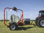 Kuhn's new RW1810 bale wrapper.