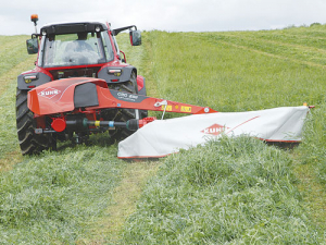 Kuhn's new GMD lift control disc mower.