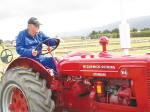 Eddie Dench has been competing in the vintage ploughing section for 40 years.