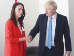 Prime Minister Jacinda Ardern and British PM Boris Johnson are both keen to secure a free trade deal.