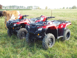 Honda's new TRX 520 ATVs – either as a manual 5-speeder or a 5-speed automatic.