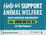 People who become aware of potential livestock abuse can call MPI confidentially on 0800 00 83 33.