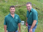 Isaacs Electrical directors Gavin Streeter and Shane Heaton.