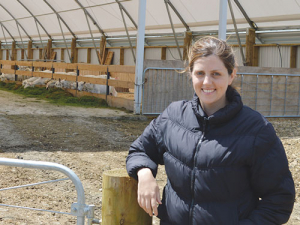 Megan Webster says the placid nature of goats make them easy to handle.