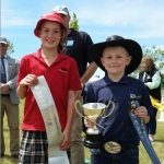 Kate McConchie and Marshall Stokes Junior Beef Calf Winners
