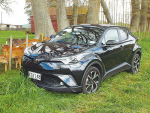The radical look of the Toyota C-Hr will turn heads in town and country.