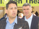 National Party leader Simon Bridges and agricultural spokesman Nathan Guy at Fieldays.
