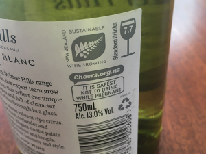Every bottle of New Zealand wine has the standard measure on its back label. If is says 7.7 standard drinks that means it will take your liver 7.7 hours to process the alcohol in that bottle and there is no way to speed it up.