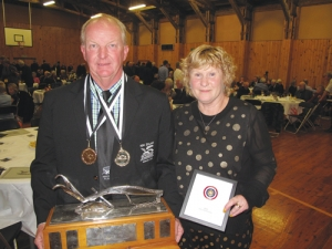Ian Woolley with wife Jenni winner of the 2015 Silver Plough Trophy.