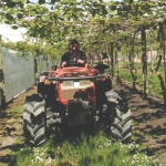 Tractors ease orchard's disease management