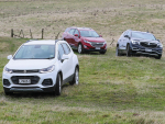 From left to right: Holden's Trax, Equinox and Acadia.