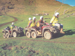 This photograph was displayed at the Fieldays to promote a modified quad that can carry up to seven passengers.