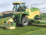 The Krone Big M 450 self-propelled mower in action.