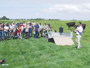 IrrigationNZ project manager Steve Breneger speaking at a Lincoln University dairy farm field day earlier this year.